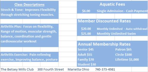 Pool Schedule second half 2016