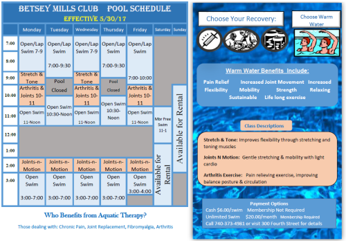 Pool Sched. 2017 Spring Summer